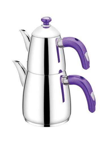 Schafer 4 Parça Nova Plus Çaydanlık Takımı - Mor Mor